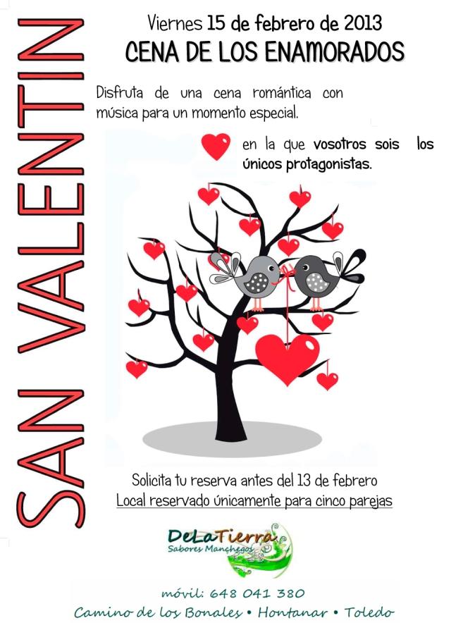 Cena de los enamorados: viernes 15 de febrero 2013